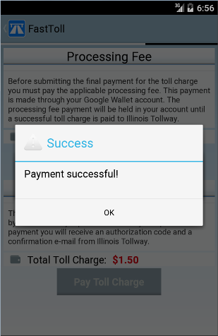 FastToll Android Manual